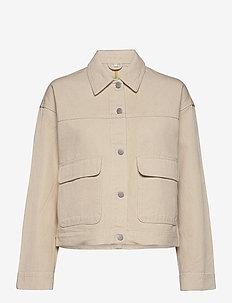 VIMOANO DENIM JACKET/DES - kurtki dżinsowe - natural melange