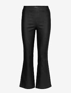 VICOMMIT COATED HWSL NEW CROPPED PANT/L - bukser - black
