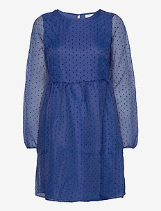 VIWAUV 3/4 DRESS /RX - short dresses - mazarine blue