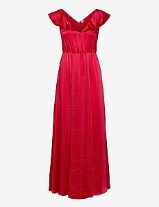 VIFLOATING FRILL MAXI DRESS/DC/SU - maxi dresses - barberry