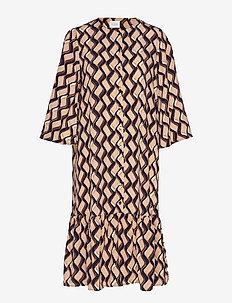 VIKULLA 3/4 DRESS /RX - midi dresses - navy blazer
