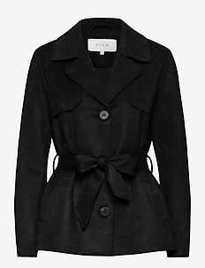 VIJAKY SHORT TRENCH COAT - NOOS - trenchcoats - black