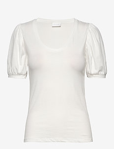 VISUS BALOON T-SHIRT /SU - basic t-shirts - cloud dancer