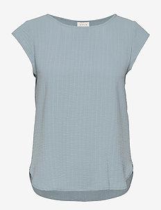 VILOVIE CAPSLEEVE TOP/SU - - t-shirts - ashley blue