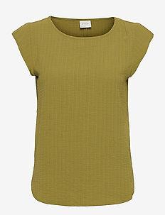 VILOVIE CAPSLEEVE TOP/SU - t-shirts - green olive