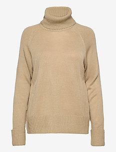 VIOA KNIT ROLL NECK L/S  TOP - pologenser - simply taupe