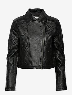 VIGORA LEATHER BIKER JACKET - skinnjakker - black
