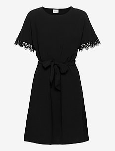 VIRASHA S/S  DRESS - korte kjoler - black