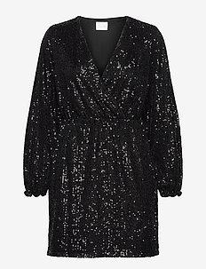 VILYC L/S SHORT  DRESS - pailletkjoler - black