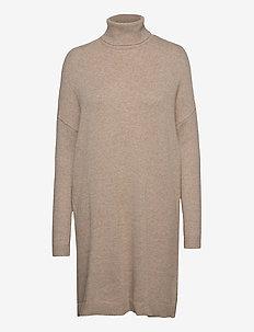 VIRIL ROLLNECK L/S KNIT TUNIC - NOOS - short dresses - natural melange