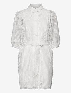 VIDAHLIAN 3/4 SHIRT DRESS - CLOUD DANCER