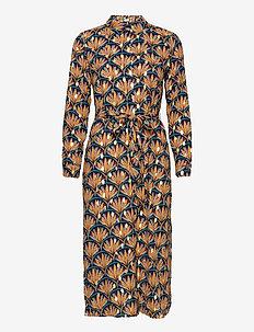 VIZINO L/S MIDI SHIRT DRESS/L - midi dresses - navy blazer