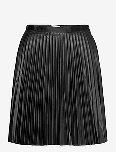 VIAMINNA HW PLEATED SHORT COATED SKIRT - short skirts - black