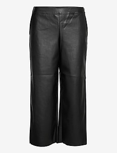 VIPEN RWRX CROPPED COATED PANTS - NOOS - wide leg trousers - black