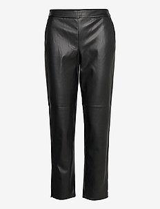 VIPEN COATED RWRE 7/8 PANT C13 - spodnie skórzane - black