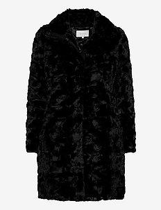 VISERIA COAT/4 - namaak bont - black
