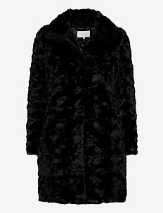 VISERIA COAT/4 - faux fur - black