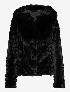 VIMAYA FAUX FUR JACKET/3 - fuskpäls - black
