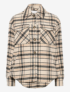 VIRUBI CHECK SHIRT JACKET/SU - overshirts - birch