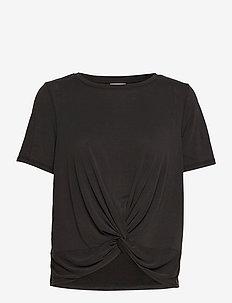 VIMILTA S/S TOP - t-shirts - black