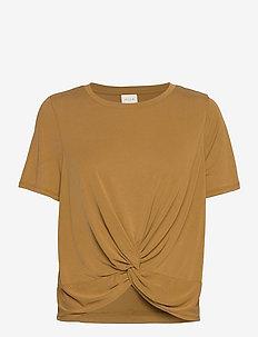 VIMILTA S/S TOP - t-shirts - tapenade