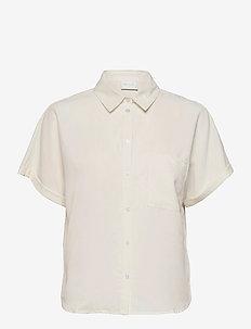 VIBASU 2/4 SLEEVE SHIRT - overhemden met korte mouwen - cloud dancer