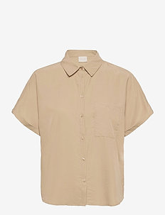 VIBASU 2/4 SLEEVE SHIRT - overhemden met korte mouwen - humus