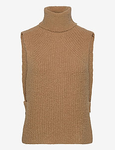 VISABIR KNIT VEST - stickade västar - tigers eye