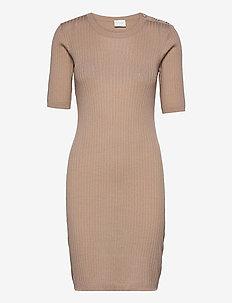 VIBOSTA 2/4 SLEEVE KNIT DRESS - alledaagse jurken - humus