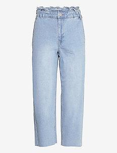 VINEIMA HW CROPPED STRAIGHT JEANS/DES - straight jeans - light blue denim