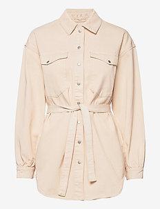 VIDERESSA L/S DENIM SHIRT - overshirts - birch