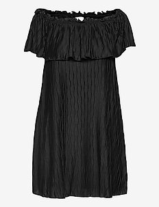 VIPLISRA OFFSHOULDER DRESS/SU - juhlamekot - black