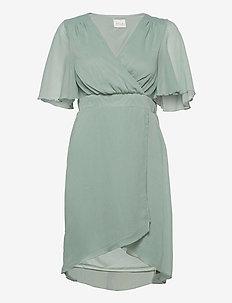 VIRILLA 2/4 SLEEVE DRESS/DC/SU - midi kjoler - jadeite