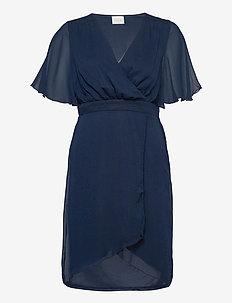 VIRILLA 2/4 SLEEVE DRESS/DC/SU - midi kjoler - navy blazer