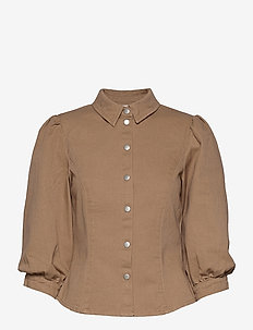 VIPURS 3/4 SHIRT - jeansblouses - tigers eye