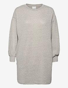 VILUNE L/S DRESS/SU - alledaagse jurken - super light grey melange