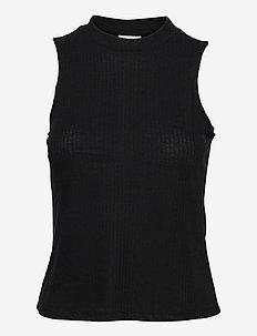 VIATHALINA S/L TOP/SU - tops zonder mouwen - black
