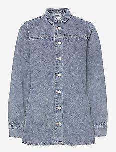 VIANITES L/S DENIM SHIRT - jeansblouses - light blue denim