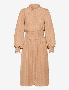 VIMUSLING L/S DRESS - shirt dresses - tigers eye