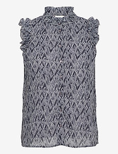 VISELINEA S/L SHIRT/SU - blouses zonder mouwen - navy blazer