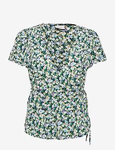 VIROSINA 2/4 WRAP TOP - blouses met korte mouwen - navy blazer