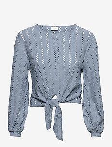 VIPILINE L/S T-SHIRT/4 - blouses met lange mouwen - ashley blue