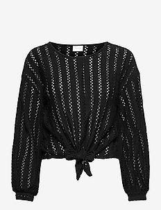 VIPILINE L/S T-SHIRT/4 - blouses met lange mouwen - black