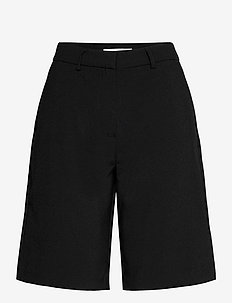 VINELY HW TAILORED SHORTS/KA - bermudashorts - black