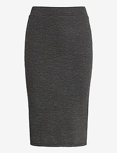 VIMANY PENCIL SKIRT /RX - midinederdele - dark grey melange