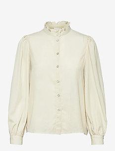 VIELINOR L/S BALLON SLEEVE SHIRT/ZA - long sleeved blouses - birch