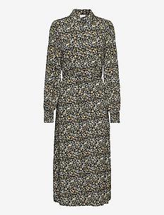 VITENDI FUNKEL L/S SHIRT DRESS/OFW - midi dresses - black