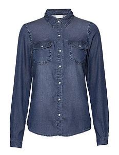 Quinn Straight fit Linen cotton Shirt (Chambray Blue 864