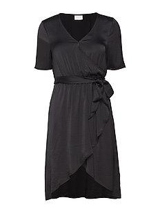 VICAVA S/S WRAP DRESS-FAV NX - BLACK
