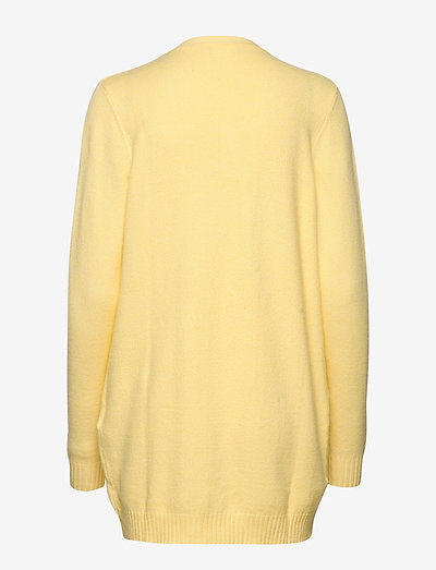 Vila Viril Open L/s Knit Cardigan-fav- Neuleet Mellow Yellow